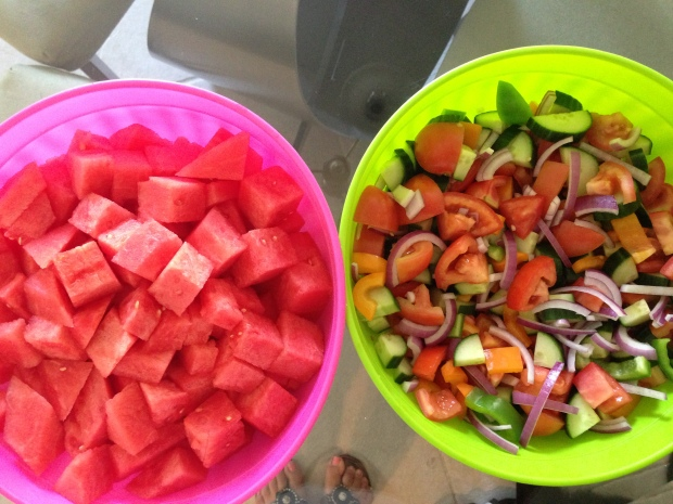 Watermelon & Greek Salad