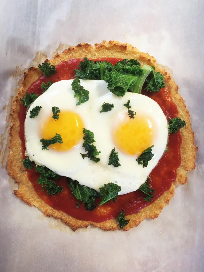 Sunny Side Up Breakfast FlatbreadPizza
